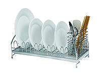 Сушка настольная Lemax для посуды с держателем приборов LF-514, хром