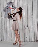 Мишка плюшевый Джон 110 см Серый, фото 2
