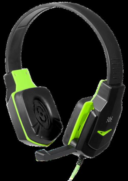 Гарнитура IT DEFENDER (64032)Warhead G-320 чёрный + зелёный  1.8м