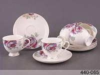 Чайный сервиз фарфоровый Lefard 12 пр., фарфоровый чайный сервиз, чайный сервиз в коробке, сервиз Розалия