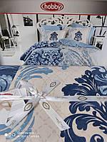 Двухспальный комплект постельного белья поплин 200*220 см