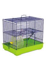 Клетка Природа Микки с колесом для грызунов сине-зеленая 37х25х30 см