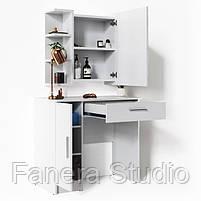 Комплект стіл туалетний з навісним дзеркалом, фото 4