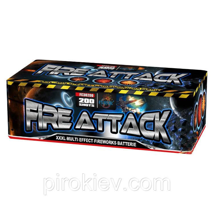 Фейерверк FC30200 Fire Attack (200 зар., 30 мм, 4 мин, ТМ Furor)