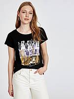 Черная женская футболка Lc Waikiki / Лс Вайкики Manhattan