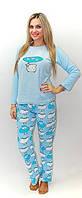 Женская теплая пижама Барашек, уютная и стильная домашняя одежда для дома оптом и в розницу