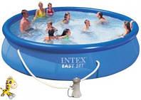 Наливной бассейн с фильтром-насосом Intex 28132