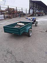 Прицеп для мотоблока Кентавр 1ПМБ-0,7 с колёсами, фото 2