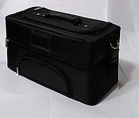 Сумка кейс бьюти из текстиля для мастеров черная, фото 1