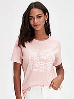 Персиковая женская футболка Lc Waikiki / Лс Вайкики Amsterdam, фото 1
