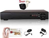 Super Full HD 5Mp комплект видеонаблюдения на 1 камеру IP66, фото 1