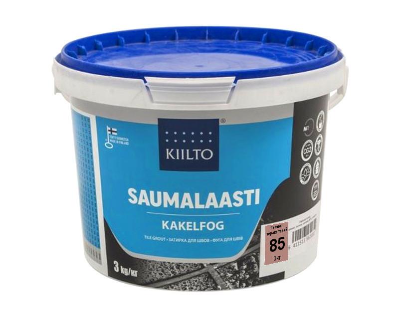 Затирка цементная KIILTO для швов плитки №85 - темно-терракотовый 3кг
