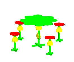 """Столик для детской площадки """"Клевер"""""""