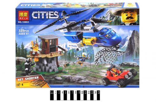 """Конструктор из серии """"Cities"""" """"Погоня в горах"""" (325 деталей)  scs"""