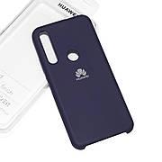Cиликоновый чехол на Huawei P Smart Z Soft-touch Dark Blue
