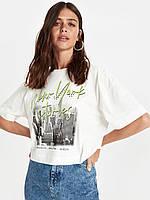 Белая женская футболка Lc Waikiki / Лс Вайкики New York stories, фото 1