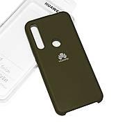 Cиликоновый чехол на Huawei P Smart Z Soft-touch Khaki