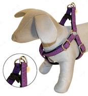 Шлея для собак MYLORD с тиснением, фиолетовая, кожзам, Croci, 25-40х1 см