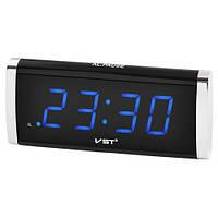 Часы сетевые 730-5 синие, 220V