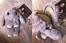 Подарок девушке жене. Сумка рюкзак кролик СЕРЫЙ, фото 7