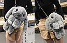 Подарок девушке жене. Сумка рюкзак кролик СЕРЫЙ, фото 8