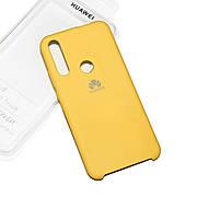 Cиликоновый чехол на Huawei P Smart Z Soft-touch Yellow