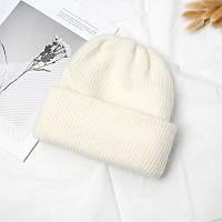 Женская теплая ангоровая шапка молочная, фото 1