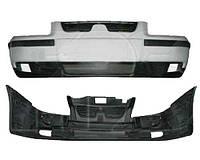Бампер передний для Samand (EL,LX) 2006 - 2012, верхняя и нижняя часть, с накладками, с решеткой, черный под покрас (FPS, FP 6900 900-P) OE 08901014
