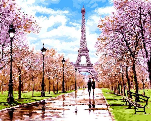 Картины по номерам 40×50 см. Ранняя весна Париж Худ Ричард Макнейл