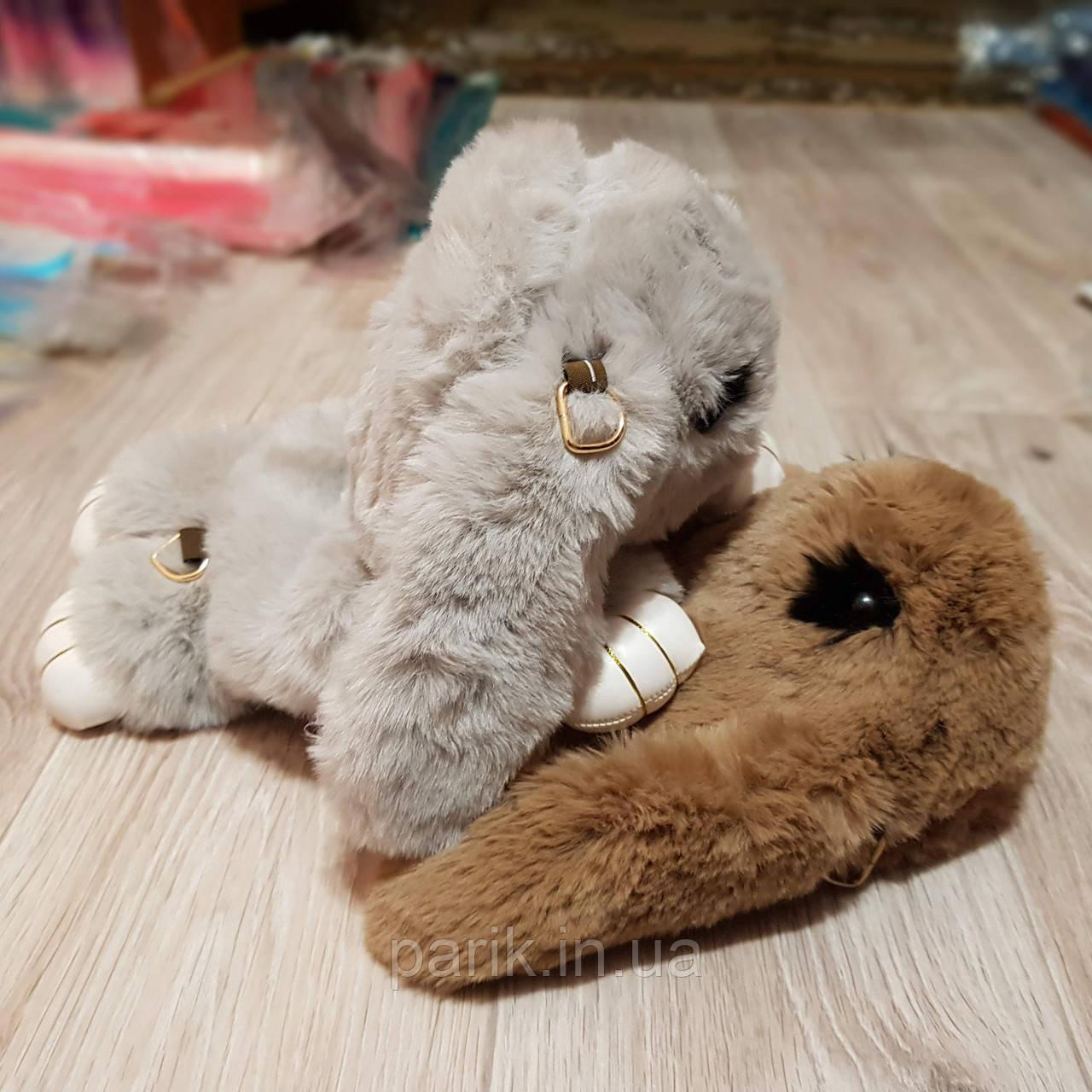 Подарок девушке жене. Сумка рюкзак кролик СЕРЫЙ