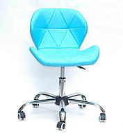 Кресло Onder Mebli Инвар Office ЭкоКожа Голубой 52