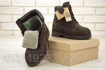 Мужские ботинки зимние Timberland Ginger (иск.мех) (коричневый)