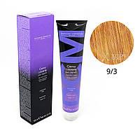 9/3 очень светлый блондин золотистый Безамиачная краска для волос DCM Cream Ammonia 100 мл