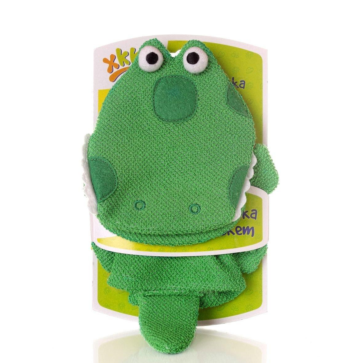 Мочалка-варежка ХККО Крокодильчик
