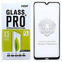 Защитное стекло Full Glue для Xiaomi Redmi Note 8 клей по всей поверхности (Black)