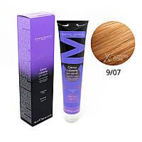 9/07 очень светлый блондин интенсивный коричневый Безамиачная краска для волос DCM Cream Ammonia 100 мл