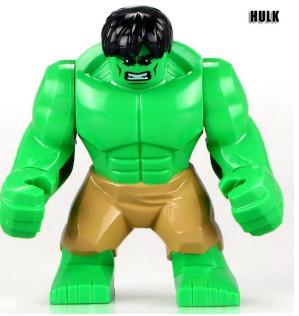 Халк зелёный Супергерой Марвел Мстители Аналог лего 7-9 см
