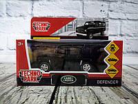 Машина Металлическая 1:32 LAND ROVER DEFENDER черный в коробке DEFENDER-BK Технопарк