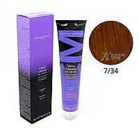 7/34 блондин золотисто-махагоновий Безамиачная краска для волос DCM Cream Ammonia 100 мл