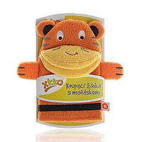 Мочалка-рукавичка ,хлопковая ХККО  Тигр