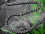 Серебряная цепочка с крестиком, фото 3