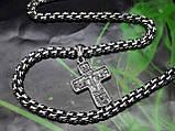 Серебряная цепочка с крестиком, фото 4