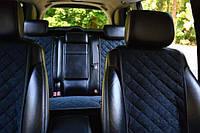 Чехлы алькантара на сиденья автомобиля комплект (широкие)