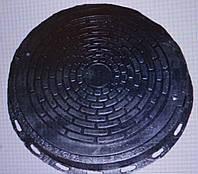 Люк полимерный 1.5 т. черный д. 700 мм
