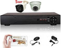 Super Full HD 5Mp комплект видеонаблюдения на 2 камеры, фото 1