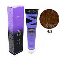 6/3 темный блондин золотистый Безамиачная краска для волос DCM Cream Ammonia 100 мл