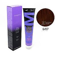 6/07 темный блондин интенсивный коричневый Безамиачная краска для волос DCM Cream Ammonia 100 мл