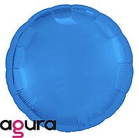 Фольгированный шар 18' Agura (Агура) Круг синий, 45 см