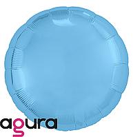Фольгированный шар 18' Agura (Агура) Круг холодный голубой, 45 см