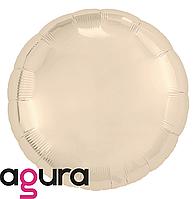 Фольгированный шар 18' Agura (Агура) Круг шампань, 45 см